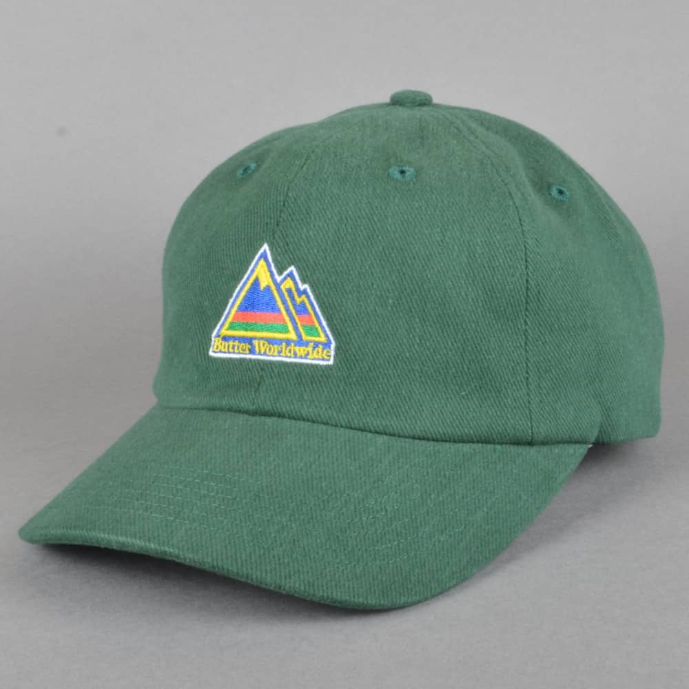 Butter Goods Mountain Dad Cap - Green - SKATE CLOTHING from Native ... 116ccd47979