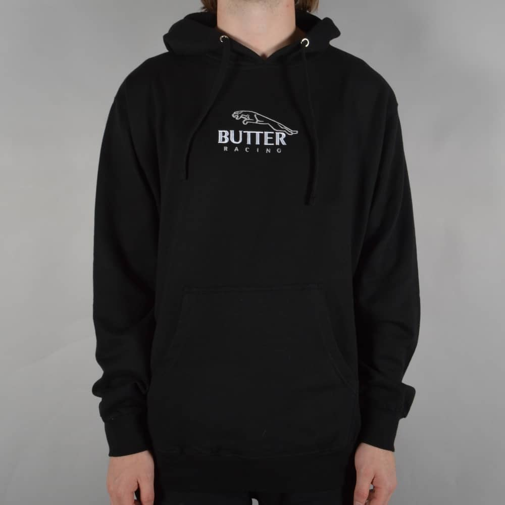 b59d6ea835e7 Butter Goods Racing Pullover Hoodie - Black - SKATE CLOTHING from ...