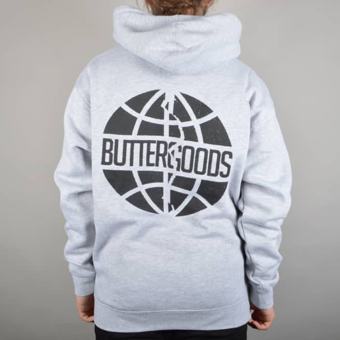 Butter Goods Scan Worldwide Logo Pullover Hoodie - Heather Grey