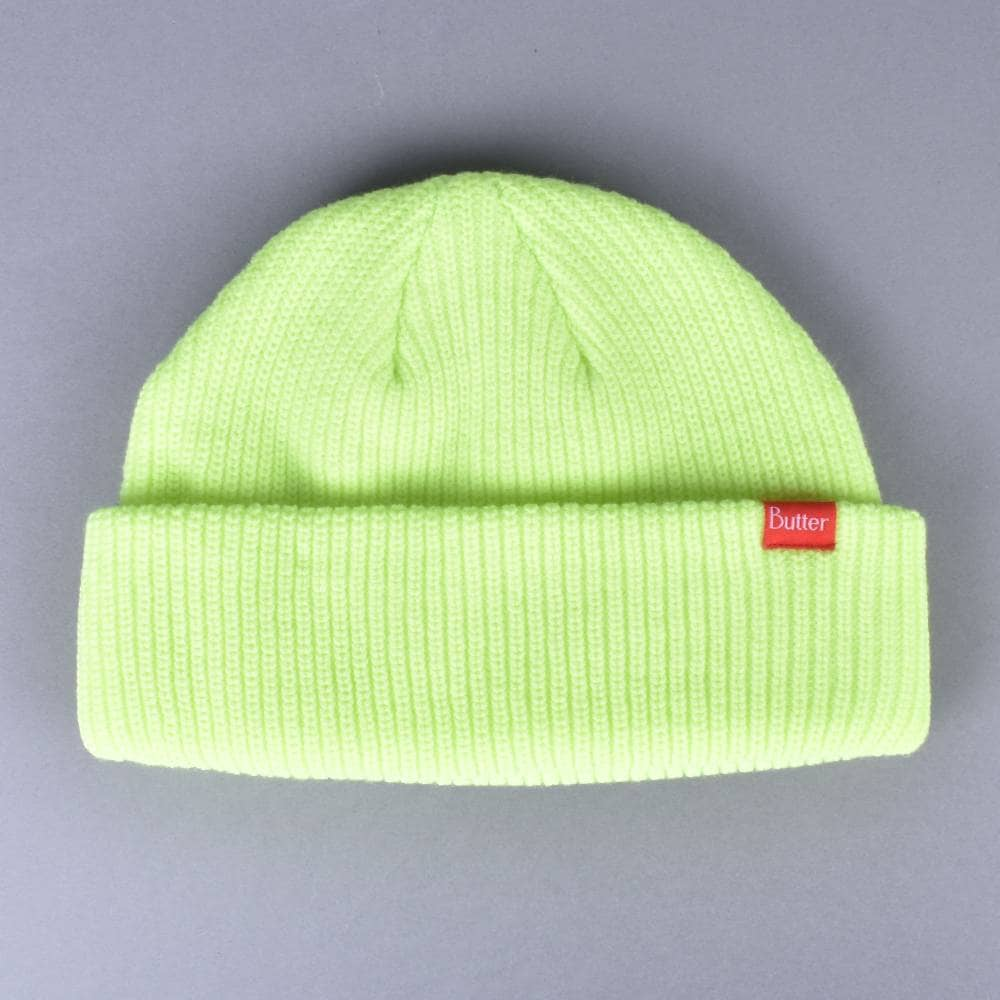 5cd1607c34c Butter Goods Wharfie Beanie - Safety Green - SKATE CLOTHING from ...