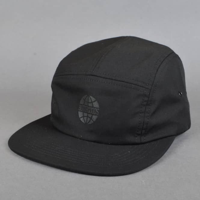 Butter Goods Worldwide 5 Panel Camp Cap - Black
