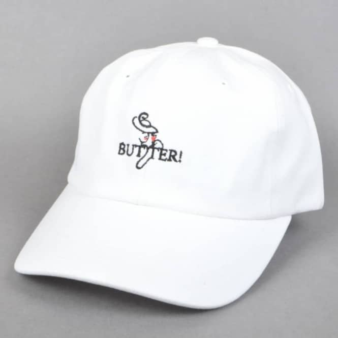 Butter Goods Bistro 6 Panel Cap - White