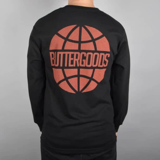Butter Goods Halftone Worldwide Longsleeve T-Shirt - Black