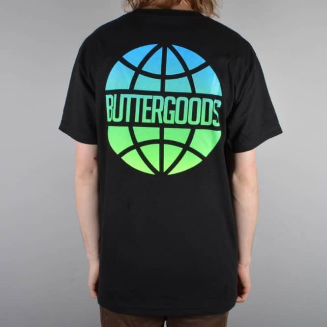 Butter Goods Lagoon Worldwide Skate T-Shirt - Black