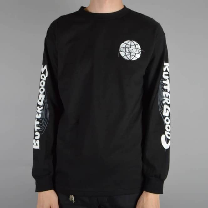 Butter Goods Other Planes Long Sleeve Skate T-Shirt - Black