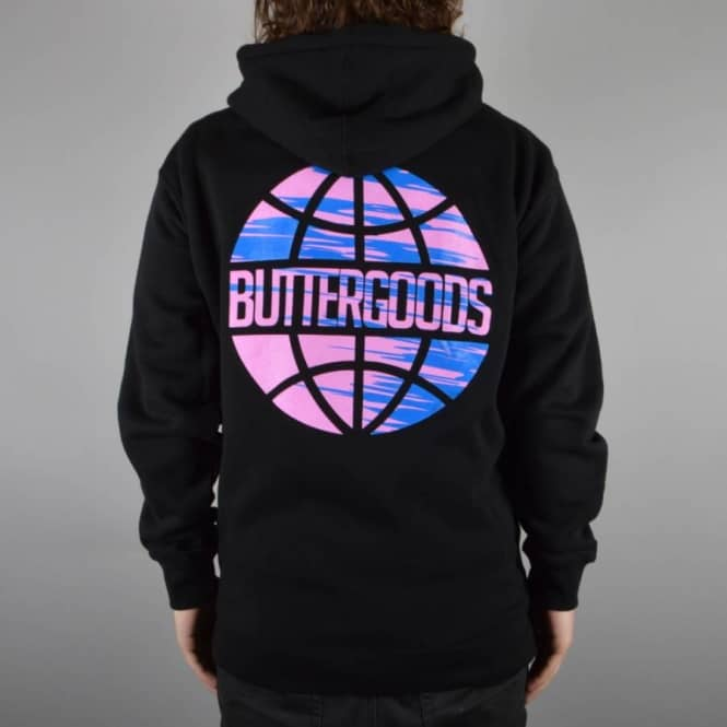 Butter Goods Sport Worldwide Zip Hoodie - Black