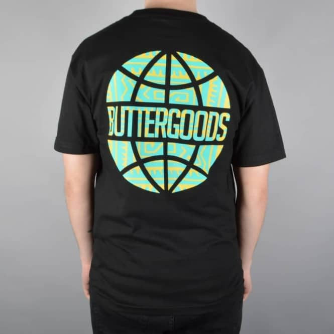 Butter Goods Tribal Worldwide Logo Skate T-Shirt - Black