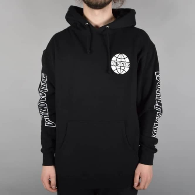 Butter Goods Worldwide Logo Pullover Hoodie - Black