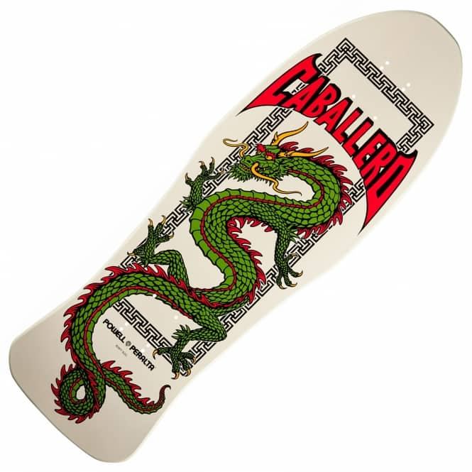 Powell Peralta Caballero Chinese Dragon White Reissue Skateboard Deck 10.0
