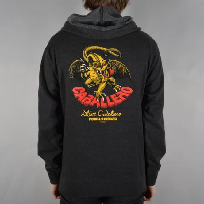 Powell Peralta Caballero Dragon Pullover Hoodie - Charcoal Heather