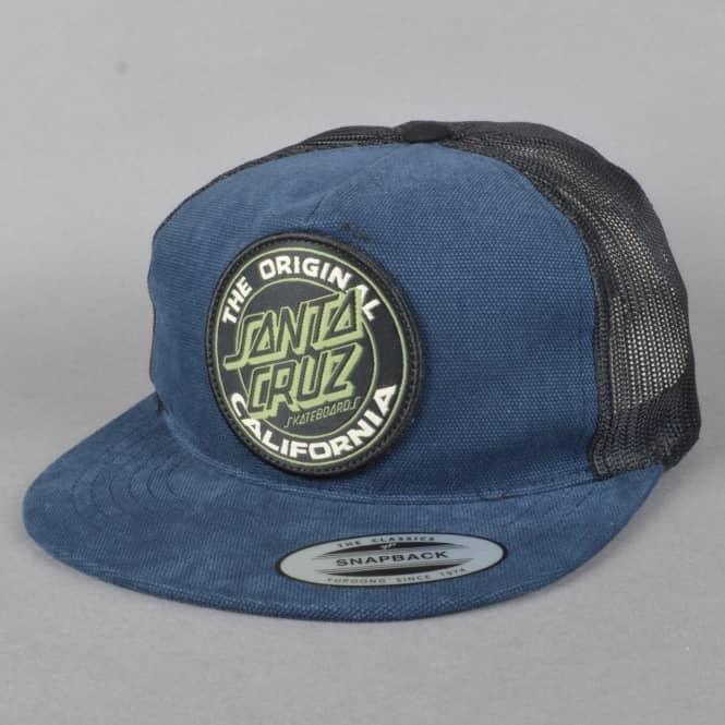 Santa Cruz Skateboards Cali Dot Mesh Backed Trucker Cap - Teal/Vintage Black