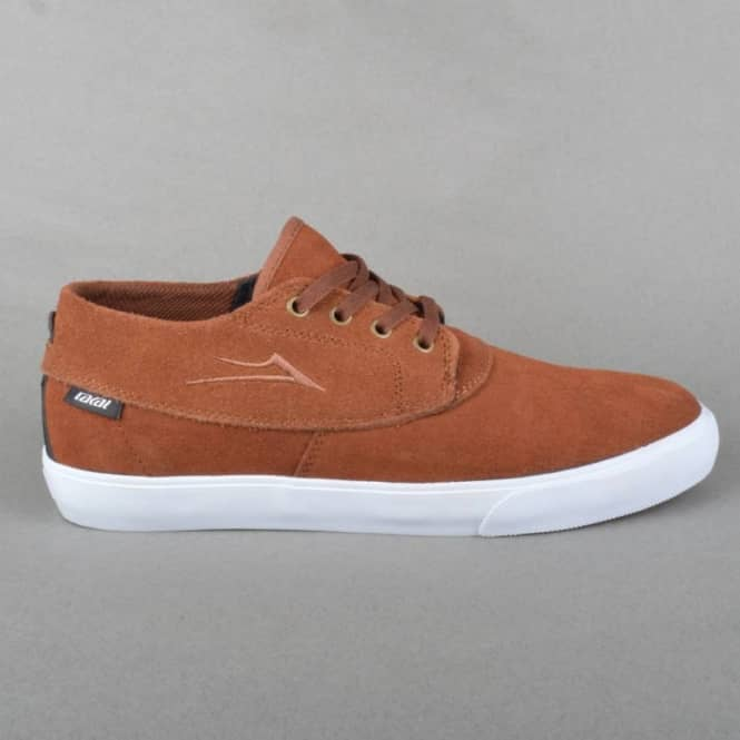 Lakai Camby Mid Skate Shoes - Tobacco Suede