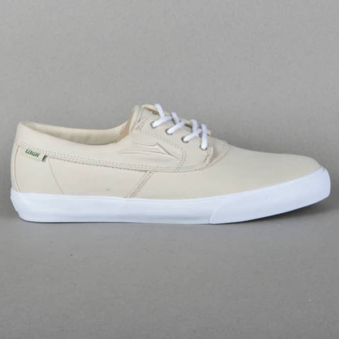 Lakai Camby Skate Shoes - Cream Canvas