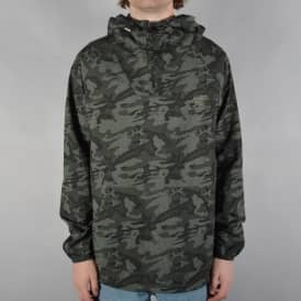Camo Windy Half Zip Windbreaker Jacket - Army