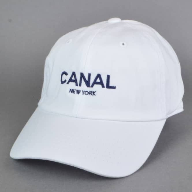 Canal New York Adult Headwear Dad Cap - White