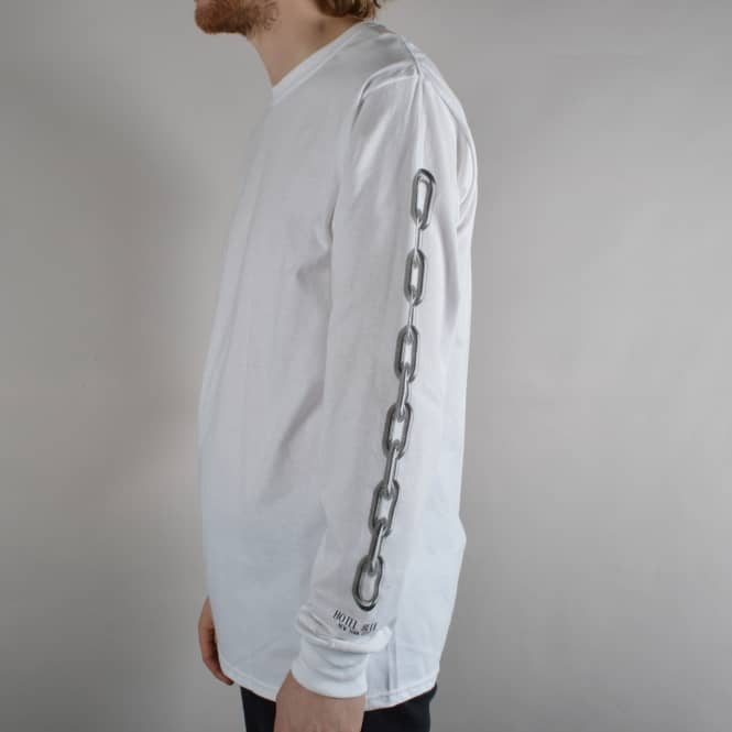 Hotel Blue Skateboards Chain Longsleeve T-Shirt - White