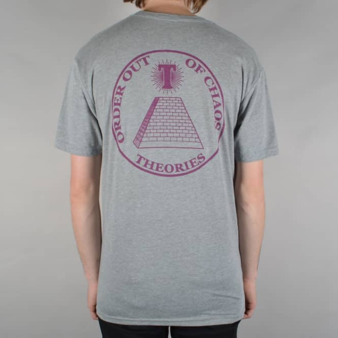Theories of Atlantis Chaos Skate T-Shirt - Heather Grey/Wine