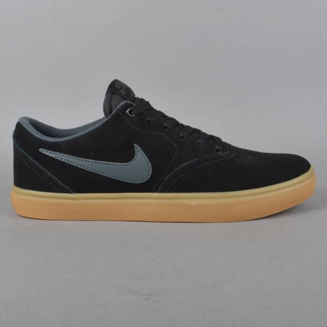 Nike SB Check Solar Skate Shoes - Black/Anthracite