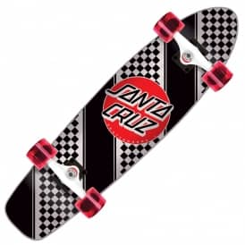 Check Stripe Jammer Cruiser Skateboard 7.4