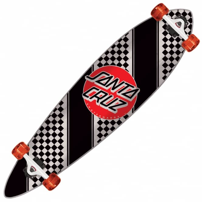 Santa Cruz Skateboards Check Stripe Pintail Complete Longboard 9.58