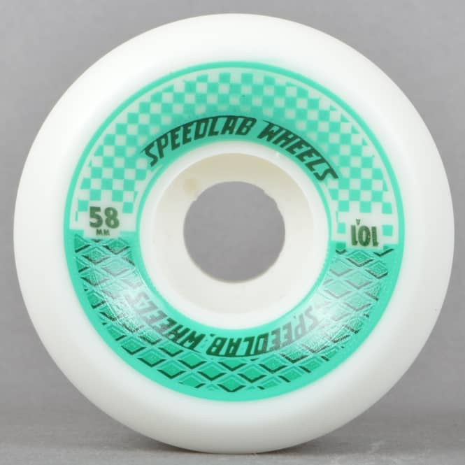 Speedlab Wheels Checkmates 101A White Skateboard Wheels 58mm