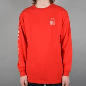 Chill Longsleeve T-Shirt - Red
