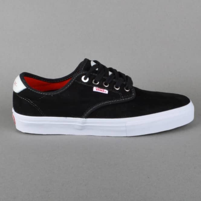 ccfa196ba9 Vans Chima Ferguson Pro Skate Shoes - (Real Skateboards) Black ...