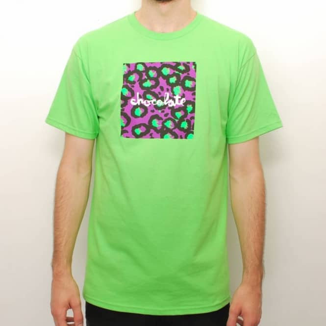 Chocolate Skateboards Chocolate Hype Chunk Skate T-shirt - Lime Green