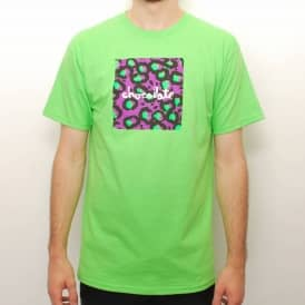 Chocolate Hype Chunk Skate T-shirt - Lime Green