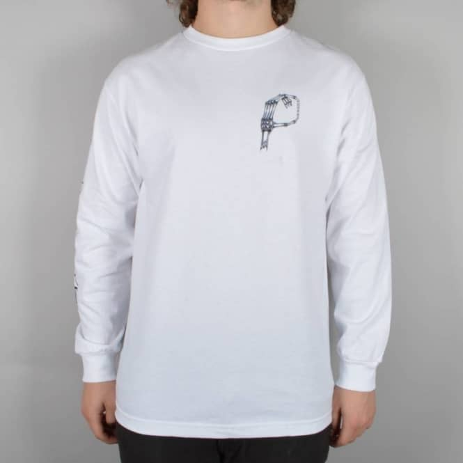 Chocolate Skateboards Choco Bones Long Sleeve Skate T-Shirt - White