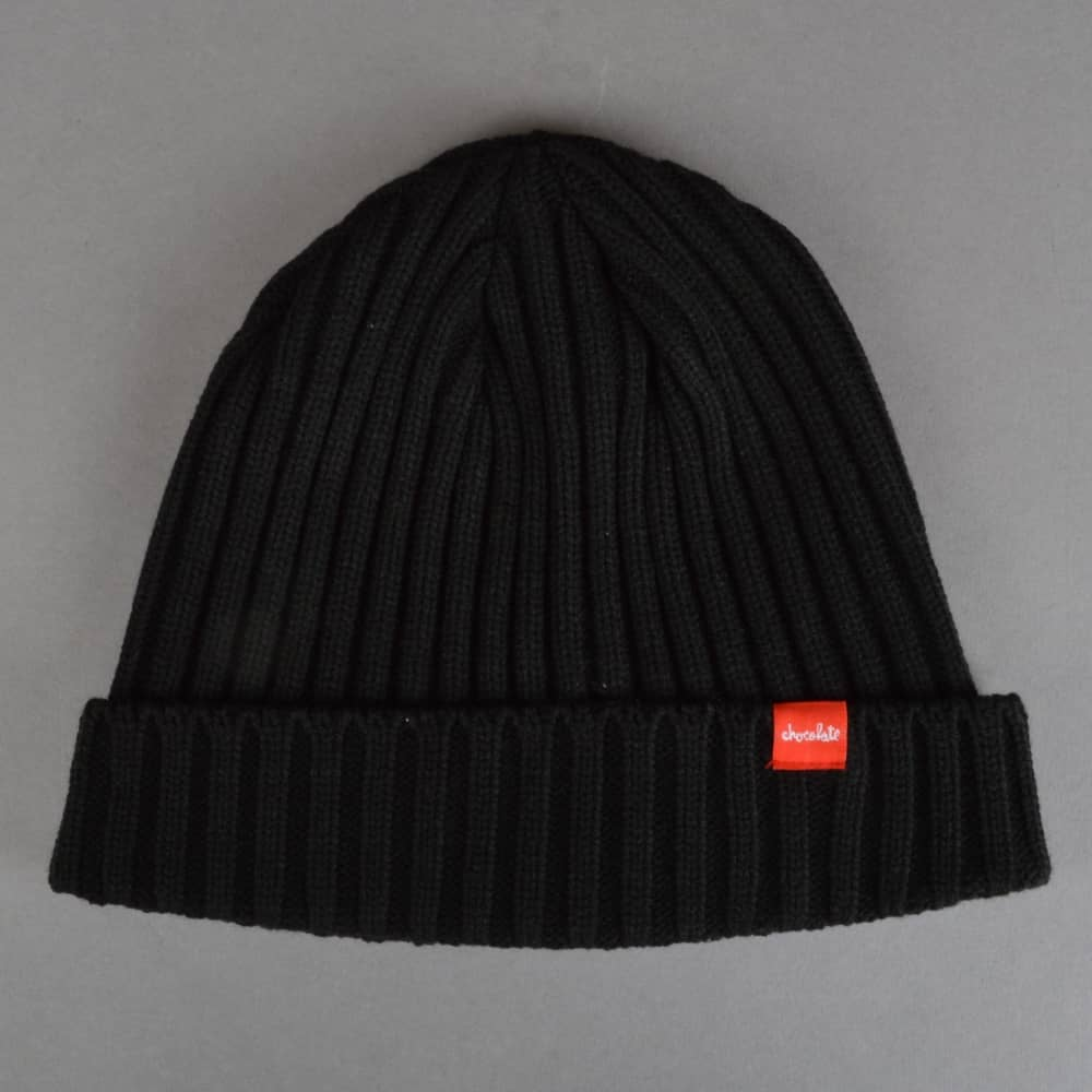 Chocolate Skateboards Choco Chunk Ribbed Beanie - Black - SKATE ... 9414f525acb
