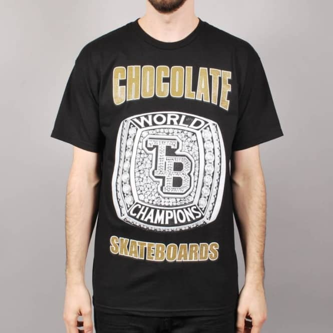 Chocolate Skateboards Chocolate TB World Champions Skate T-Shirt - Black