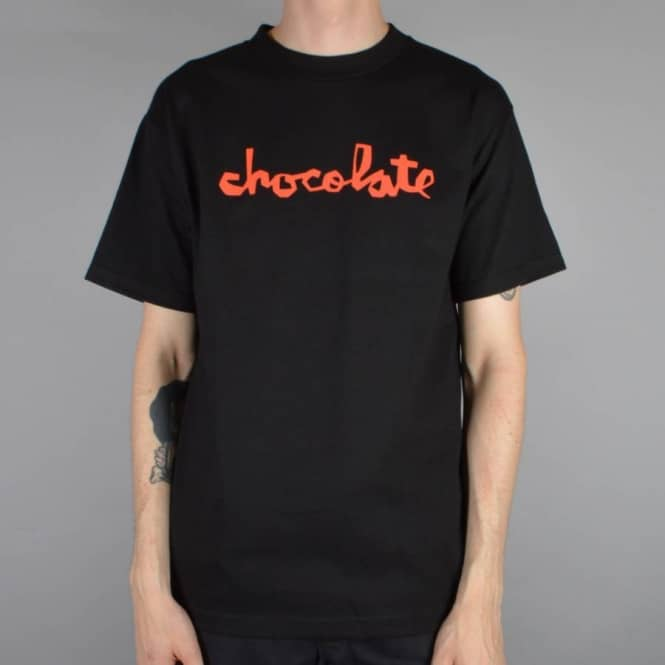 Chocolate Skateboards Chunk Skate T-Shirt - Black/Red