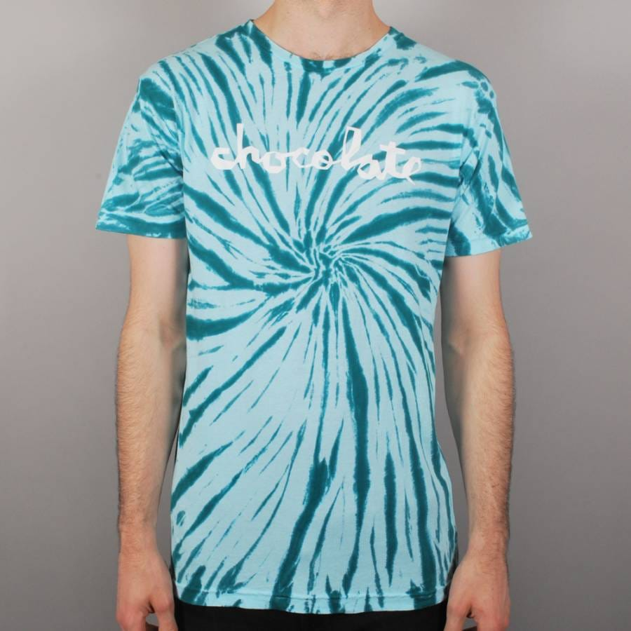 chocolate skateboards chunk tie dye skate t shirt blue chocolate skateboards from native. Black Bedroom Furniture Sets. Home Design Ideas