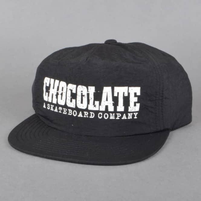 Chocolate Skateboards Classic Nylon Camper Snapback Cap - Black ... 95938f05bc3