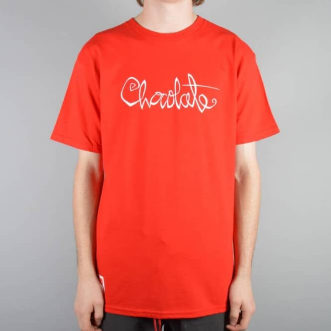 Chocolate Skateboards Heritage Script Skate T-Shirt - Red