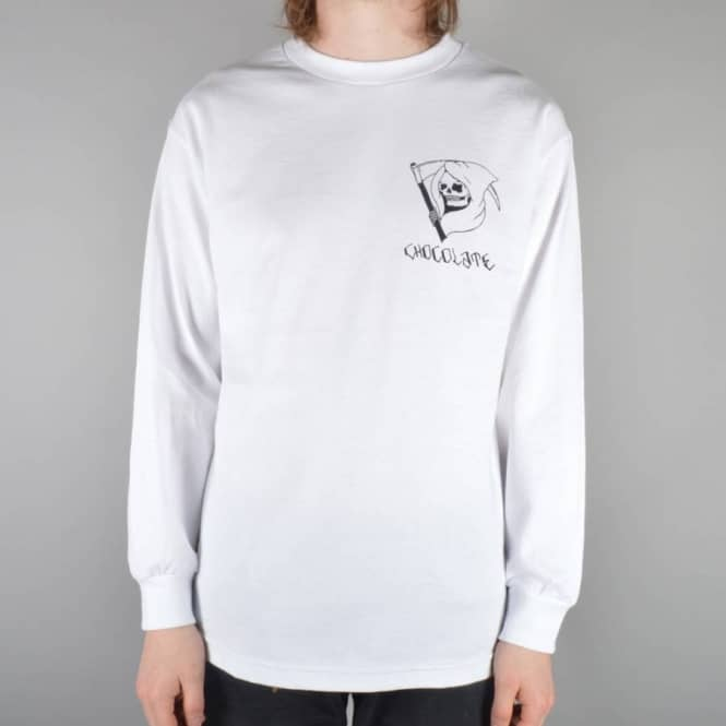 Chocolate Skateboards Lupitas Reaper Long Sleeve Skate T-Shirt - White