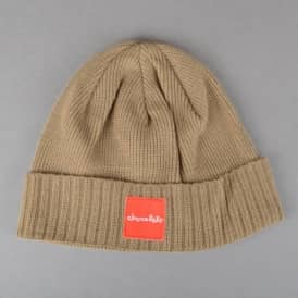 Chocolate Skateboards Red Square Fold Beanie - Khaki