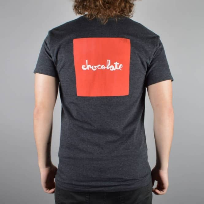 Chocolate Skateboards Red Square Skate T-Shirt - Charcoal Heather
