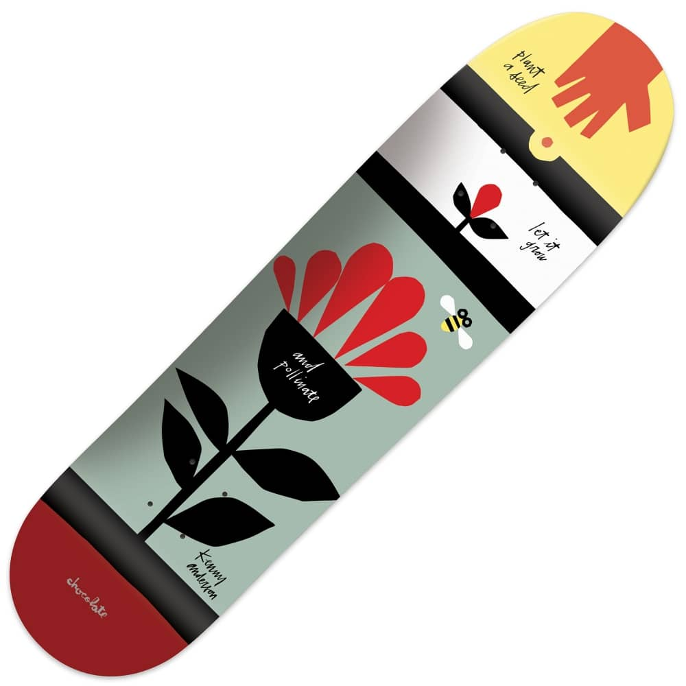 Chocolate Skateboards x Cons Kenny Anderson Skateboard Deck 8.375 ...