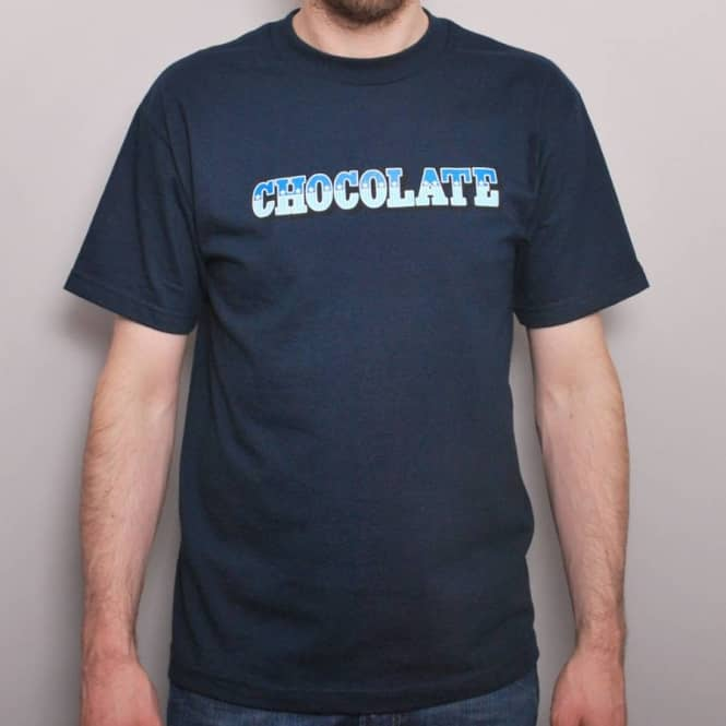 Chocolate Skateboards Chocolate Stars And Bars T-Shirt Navy