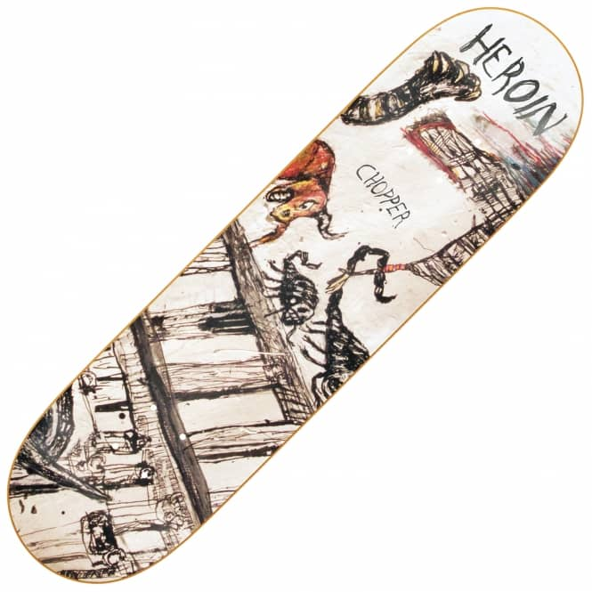 Heroin Skateboards Chopper Enemy Ritual Skateboard Deck 8.44
