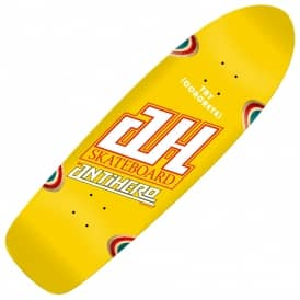 Chris Strople Tribute XL Caster Jeff Grosso Yellow Skateboard Deck 10.125