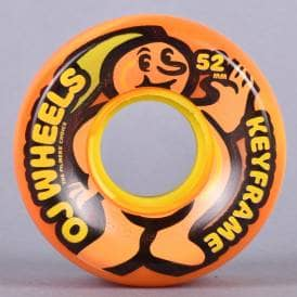 Citrus Orange/Yellow Swirl Keyframes 87A Skateboard Wheels 52mm