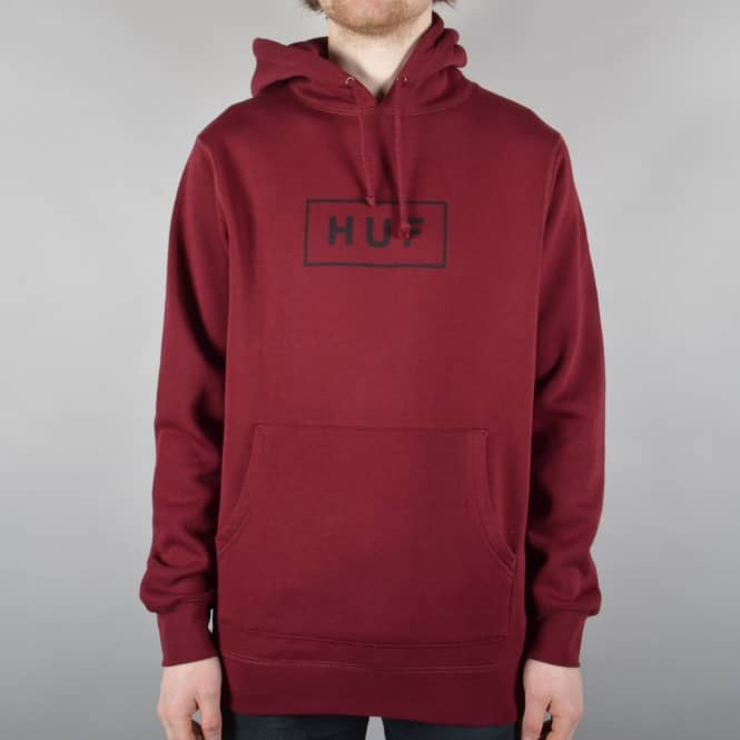 HUF Classic Bar Logo Pullover Hoodie - Maroon