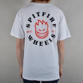 Classic Bighead Skate T-Shirt - White/Black/Red