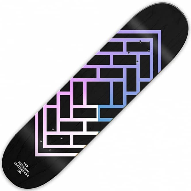 The National Skateboard Co. Classic Black Stain (Mellow Concave) Skateboard Deck 8.38