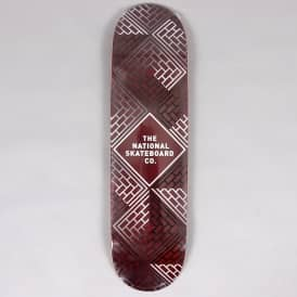Classic Black Wash Red Stain Skateboard Deck 8.25