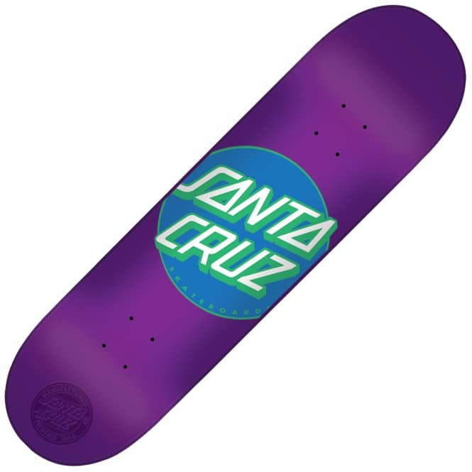 Santa Cruz Skateboards Classic Dot Candy Purple Skateboard Deck 8.0