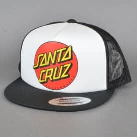 Santa Cruz Skateboards Classic Dot Youth Cap - White/Black